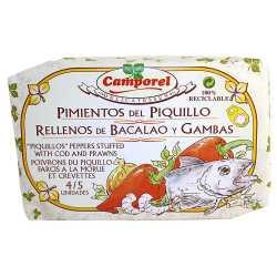 PIMIENTOS DE PIQUILLO RELLENO BACALAO Y GAMBAS