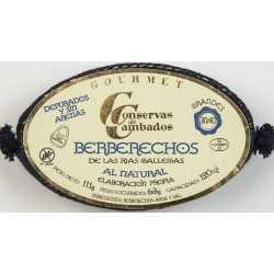 BERBERECHOS DE LAS RÍAS GALLEGAS AL NATURAL 30/40