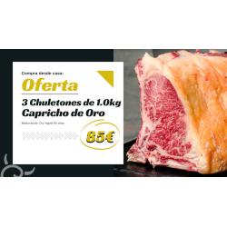 Pack de 3 chuletones gallegos | Capricho de Oro