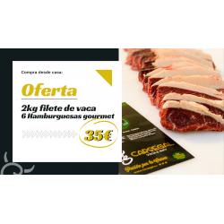 6 hamburguesas gallegas y 2 kg filete vaca | Oferta gourmet